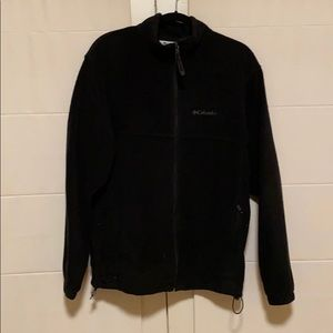 Men's Large Black Columbia Fleece Jacket